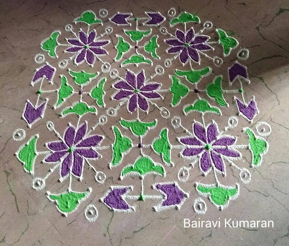 7 margali kolam design