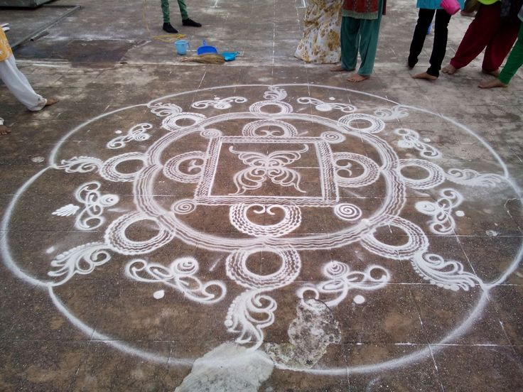 7 sanskar bharti rangoli design by shireen kauser