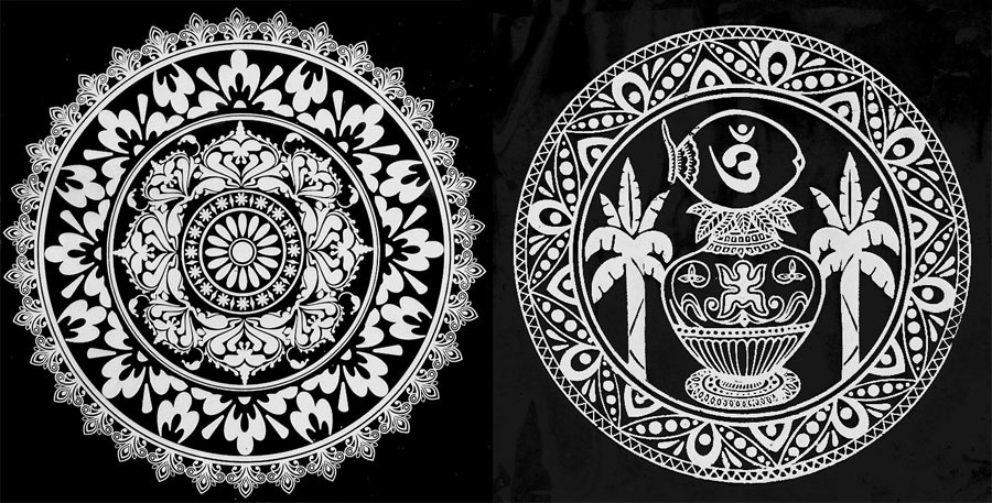7 traditional alpana design