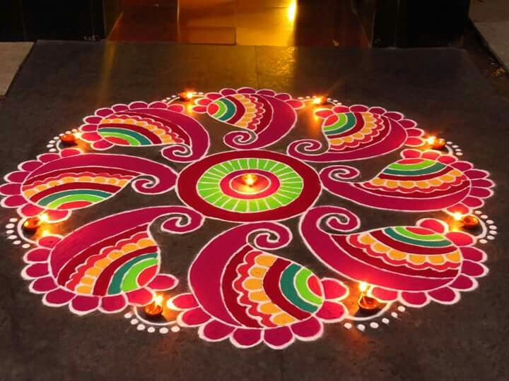 8 diwali rangoli design by kavitha nandani