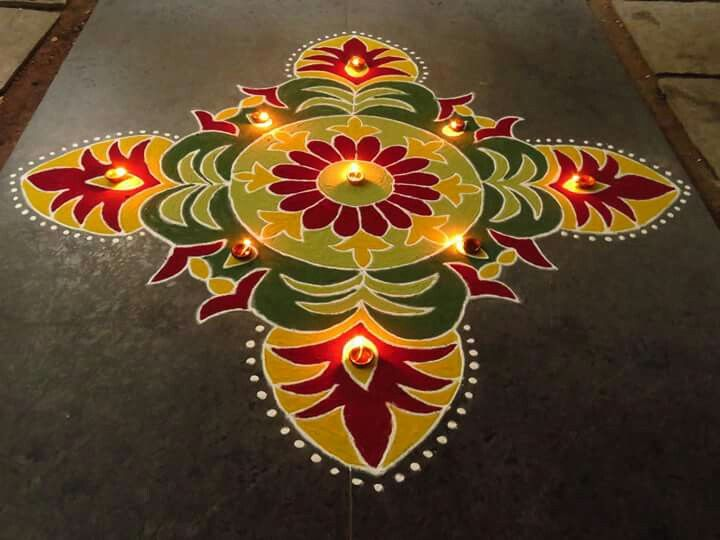 8 diwali rangoli design by nupur saxena