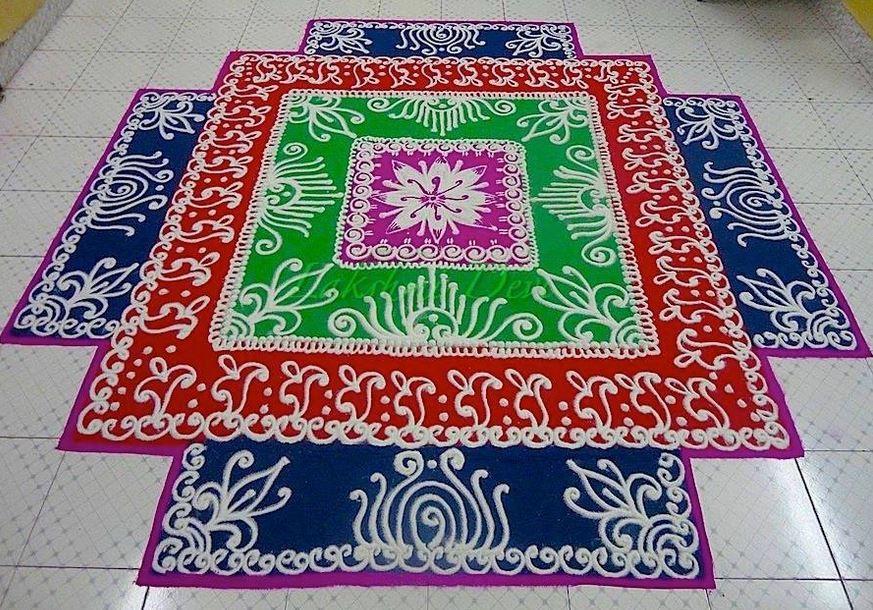 8 mandala rangoli design by homemakeoverin