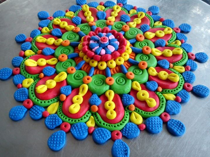 playdoh rangoli design -  8