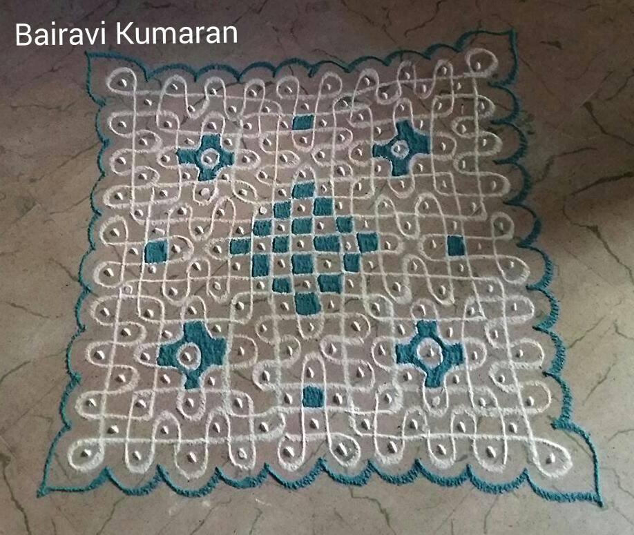 8 sikku kolam design by bairavi kumaran
