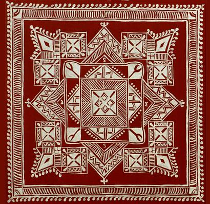 9 canvas mandana rangoli design by shakuntala