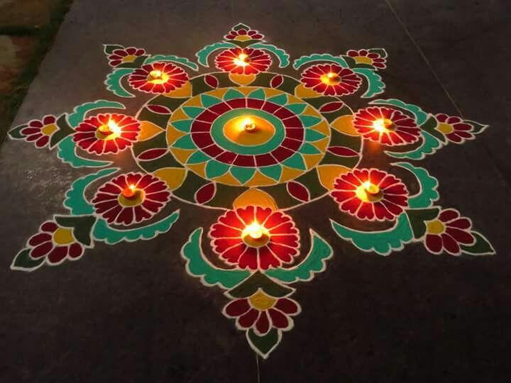 9 diwali rangoli design by kavitha nandani