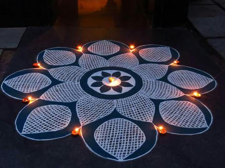 9 diwali rangoli design by nupur saxena
