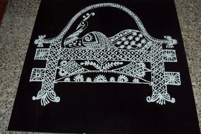 peacock kolam design by ashwini krishna -  9