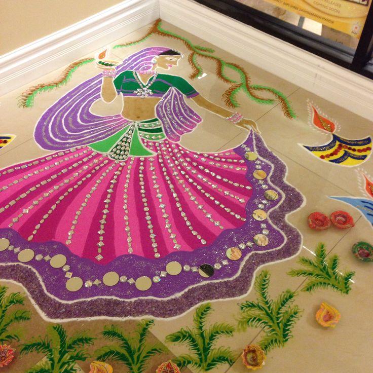 9 radha rangoli design by nisha tailor