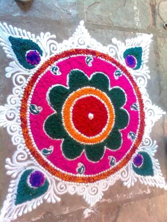 9 rangoli design by suhas mane