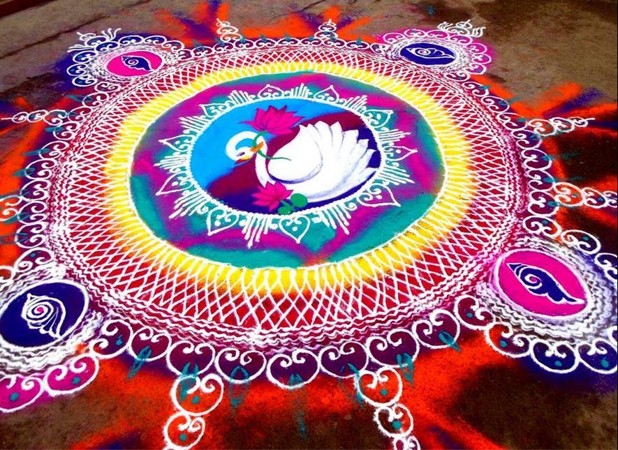 9 sanskar bharti rangoli design by homemakeoverin