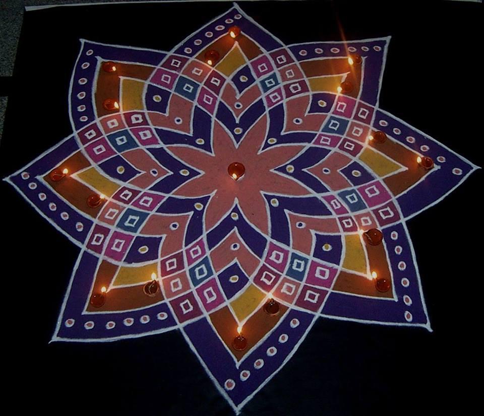 rangoli design by vanathi