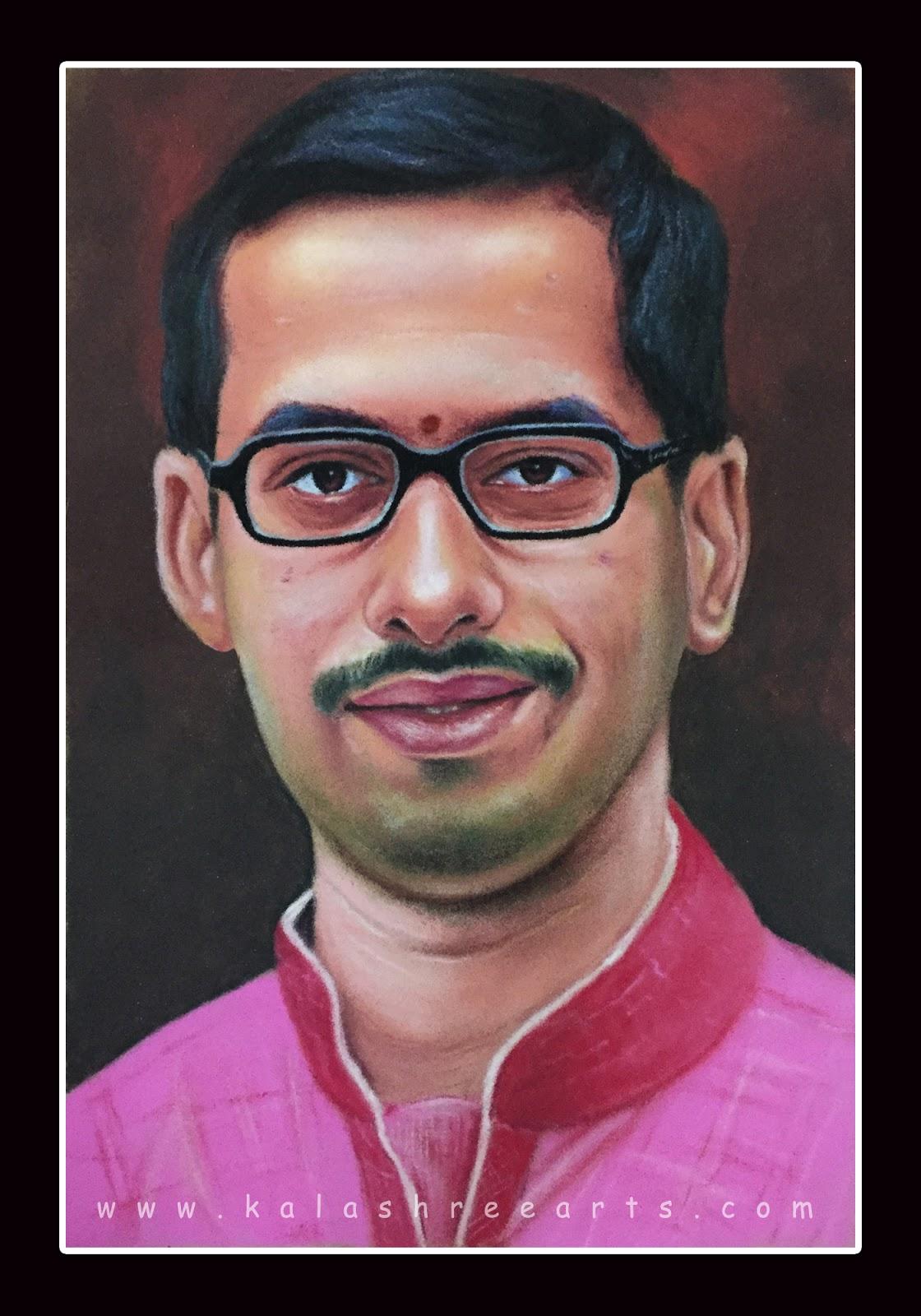self portrait rangoli design by kalashreearts