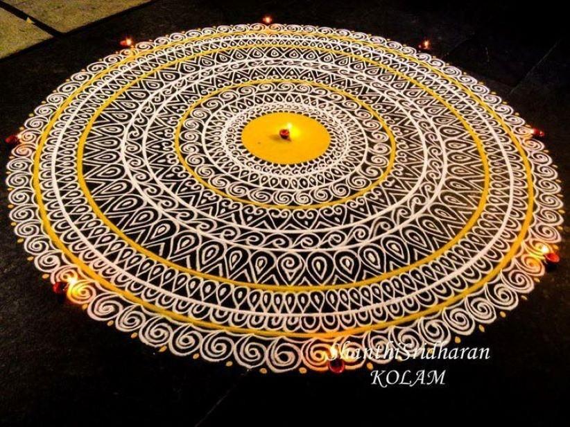mandana rangoli design by shanthi sridharan