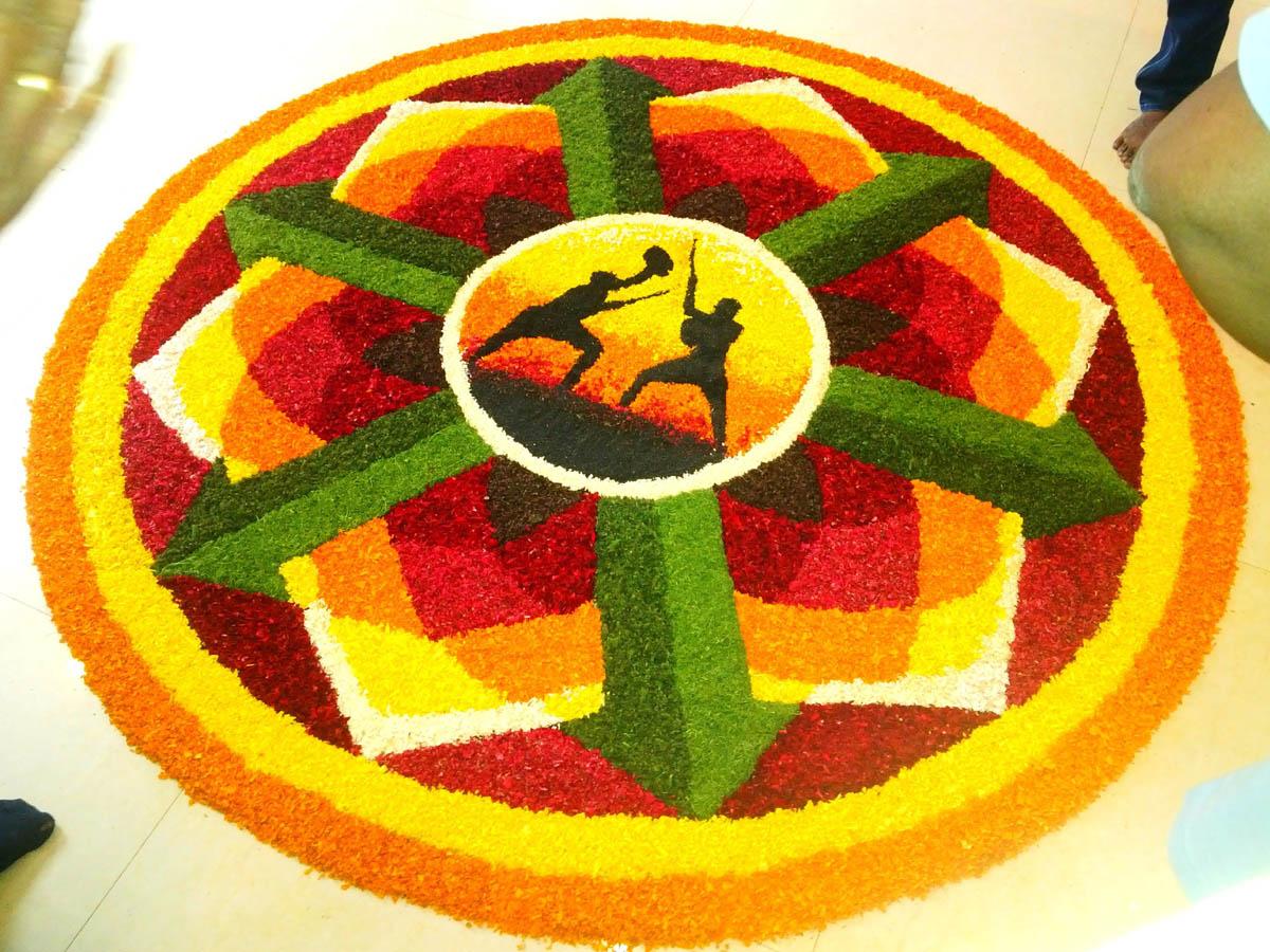pookalam rangoli designs for onam