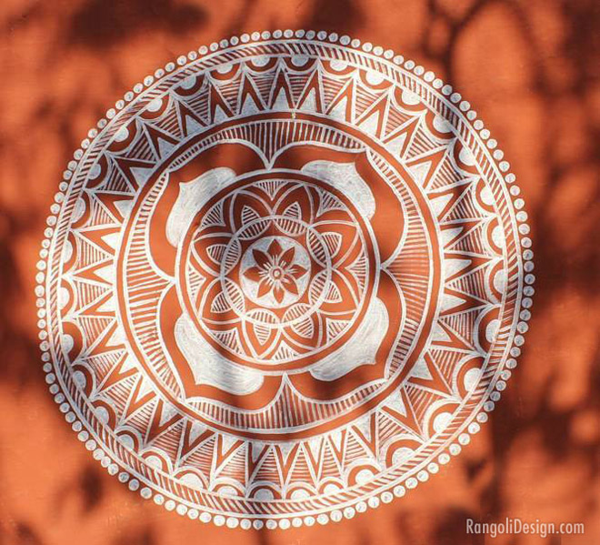 mandana rangoli design for festivals