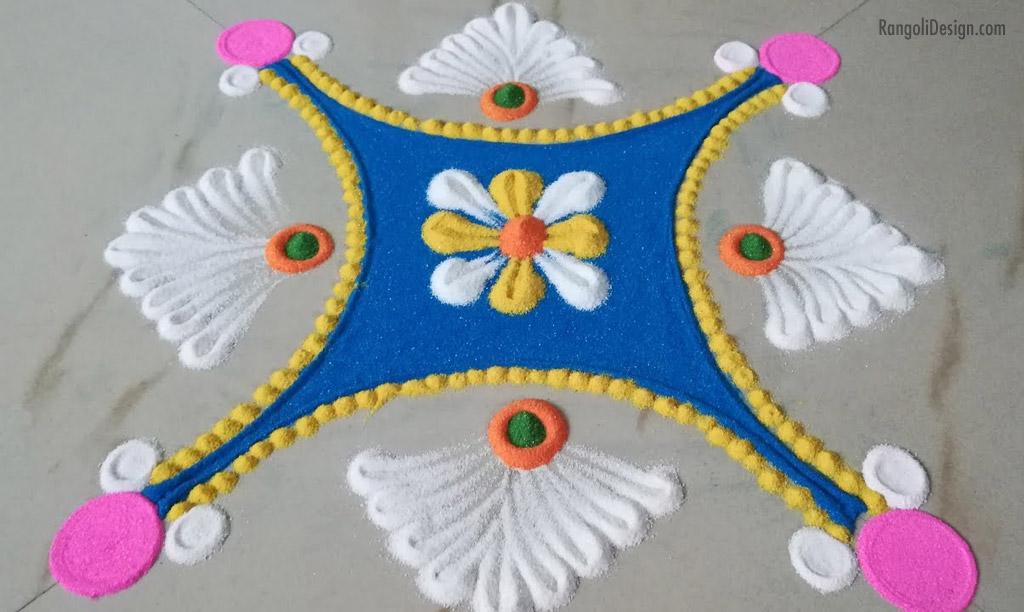 11 easy pattern rangoli design for kids
