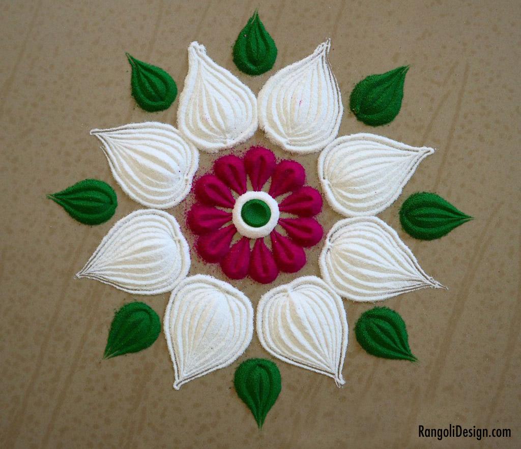 12 rangoli design for kids plain flower by menaka rangoli