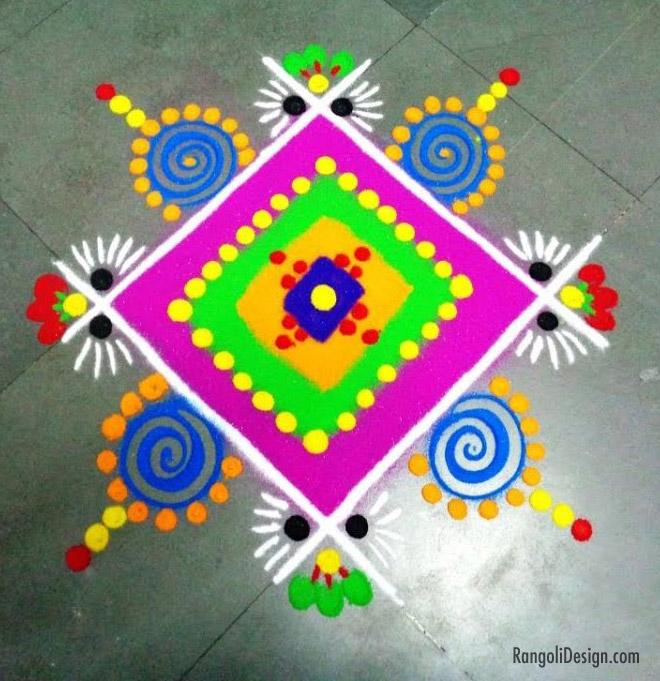 16 easy plain rangoli design for kids