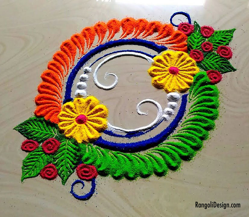 17 round shape rangoli design for children by jyoti rathod
