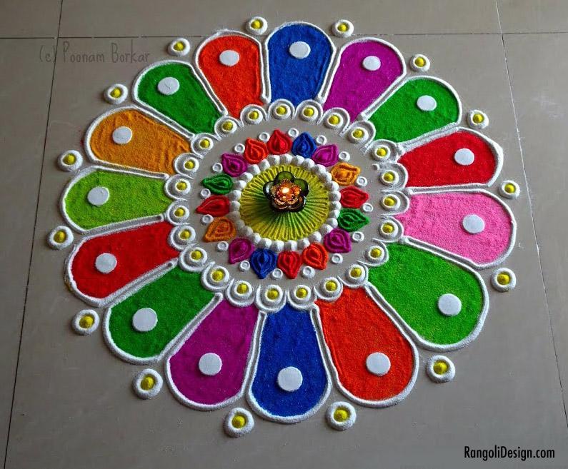 19 easy rangoli design for kids ring shape by menaka rangoli