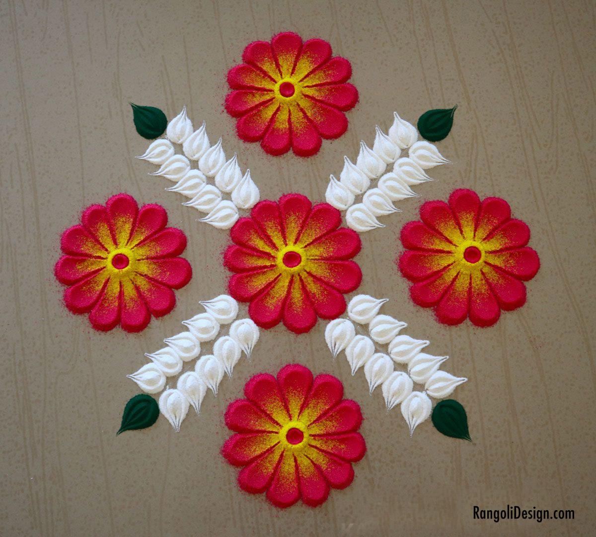 21 rangoli design for children simple border by menaka rangoli