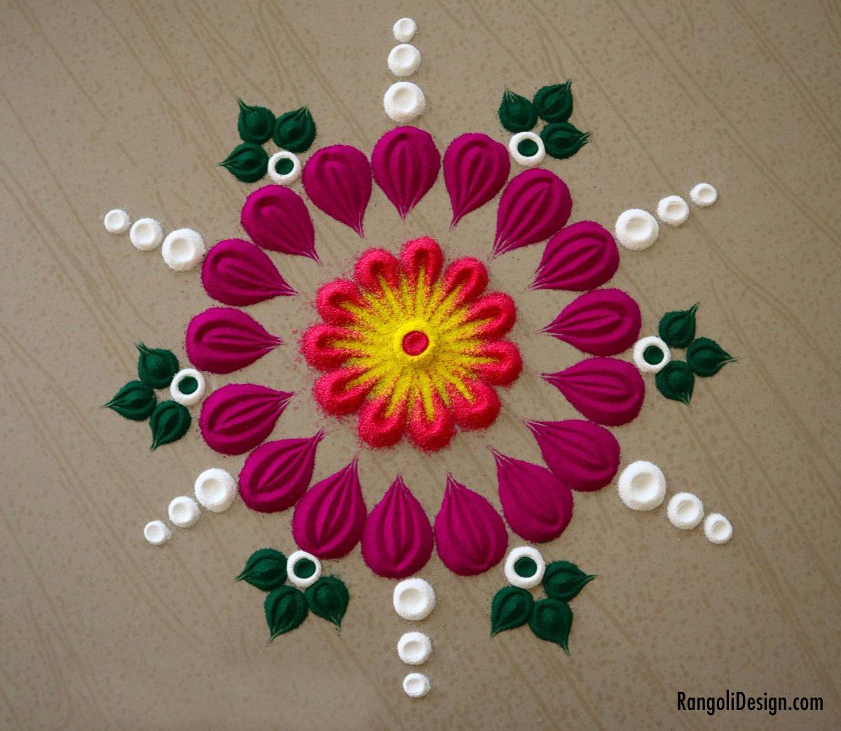 23 pile rangoli design for kids by menaka rangoli