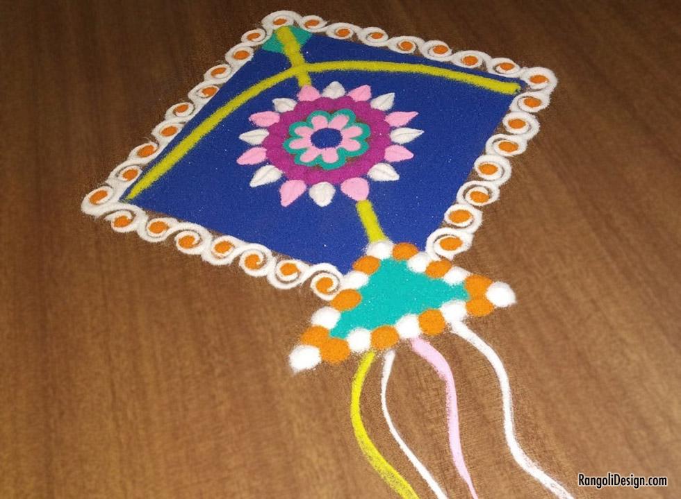 6 kite rangoli design for children by menaka rangoli