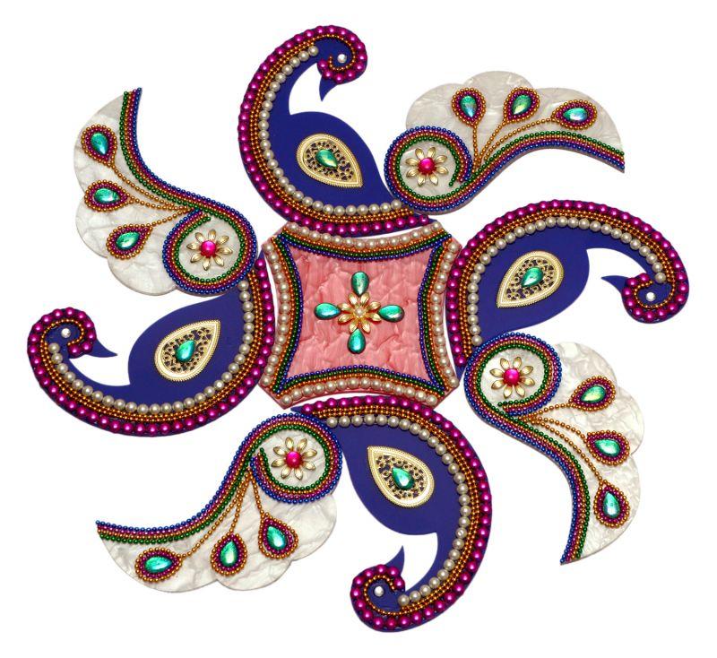 1 peacock acrylic rangoli design