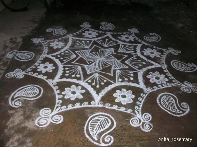 1 simple rangoli by anita rosemary