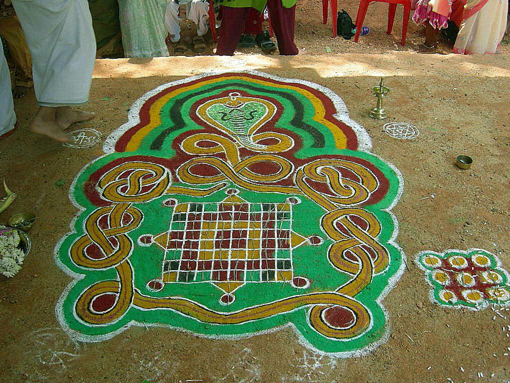 1 snake mandala rangoli design