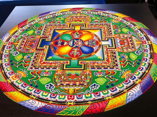 1 tibetan sand painting rangoli design