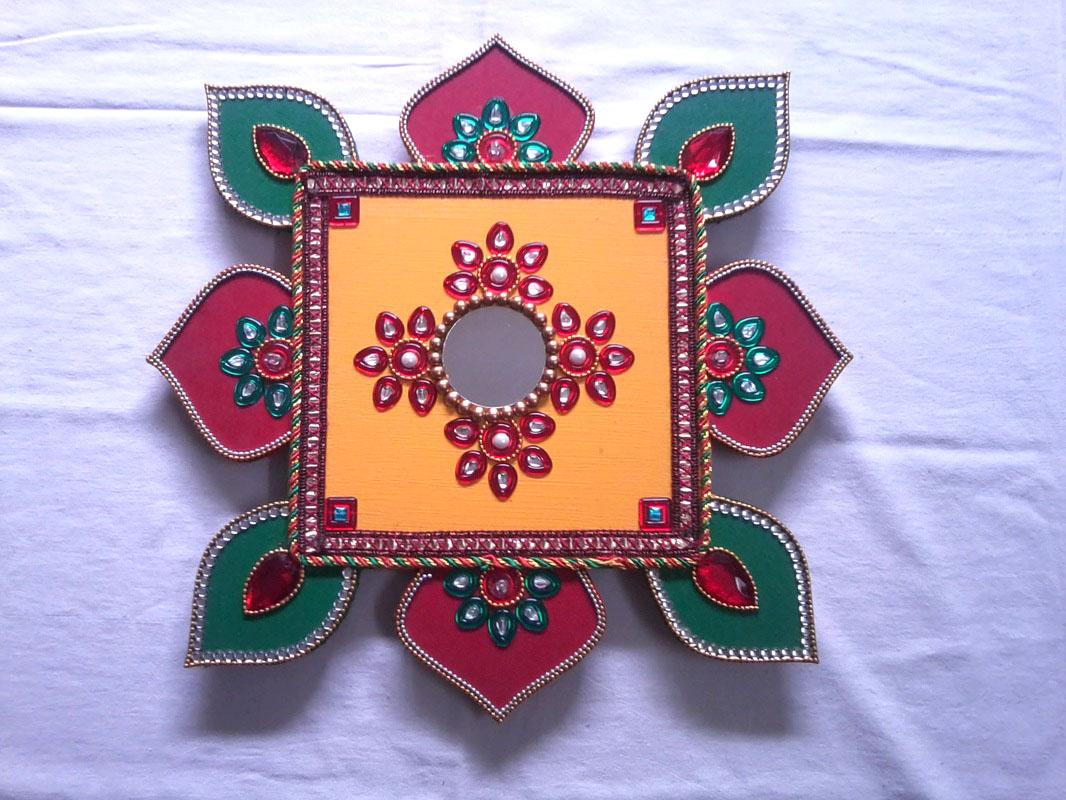 1 wooden rangoli design by shreeji