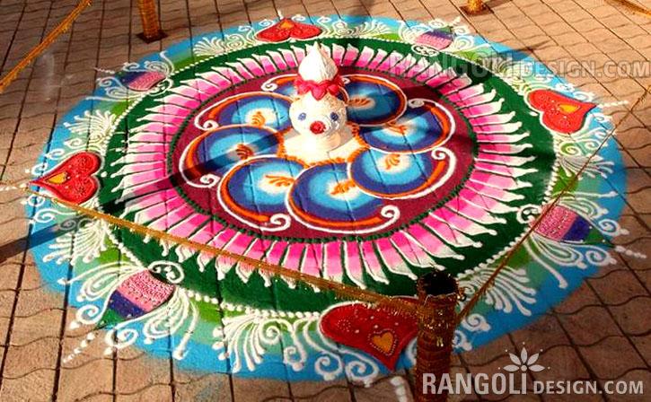 diwali rangoli design kannan tanjorearts