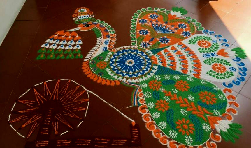 10 independence day festival rangoli design by maash