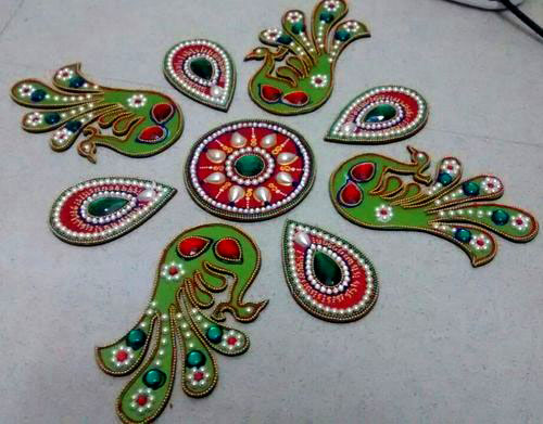 11 acrylic rangoli design