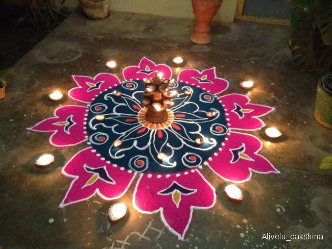 12 diwali rangoli by alivelu dakshina
