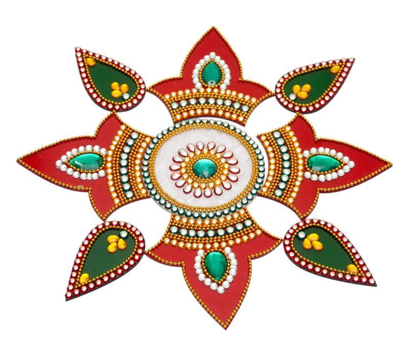 13 acrylic rangoli design