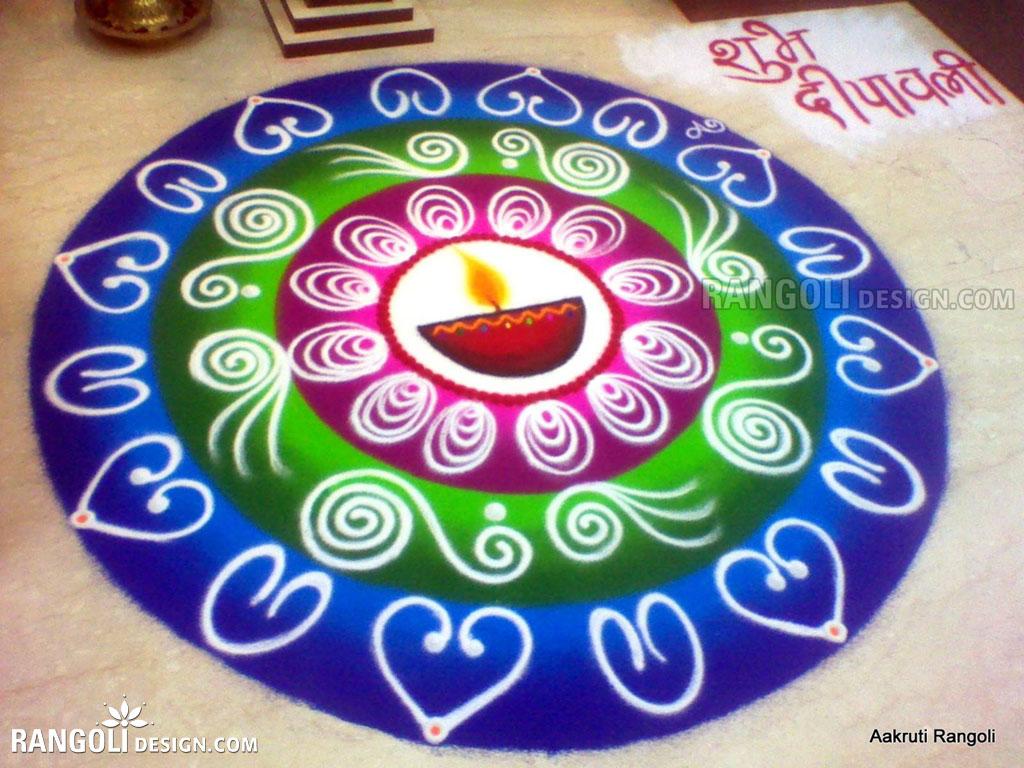 diwali rangoli design aakruti