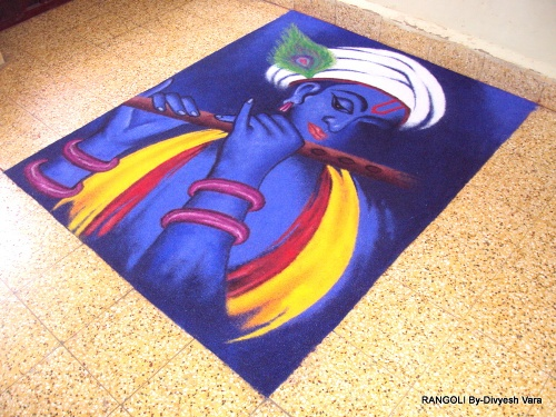 14 freehand rangoli design by divyesh vara