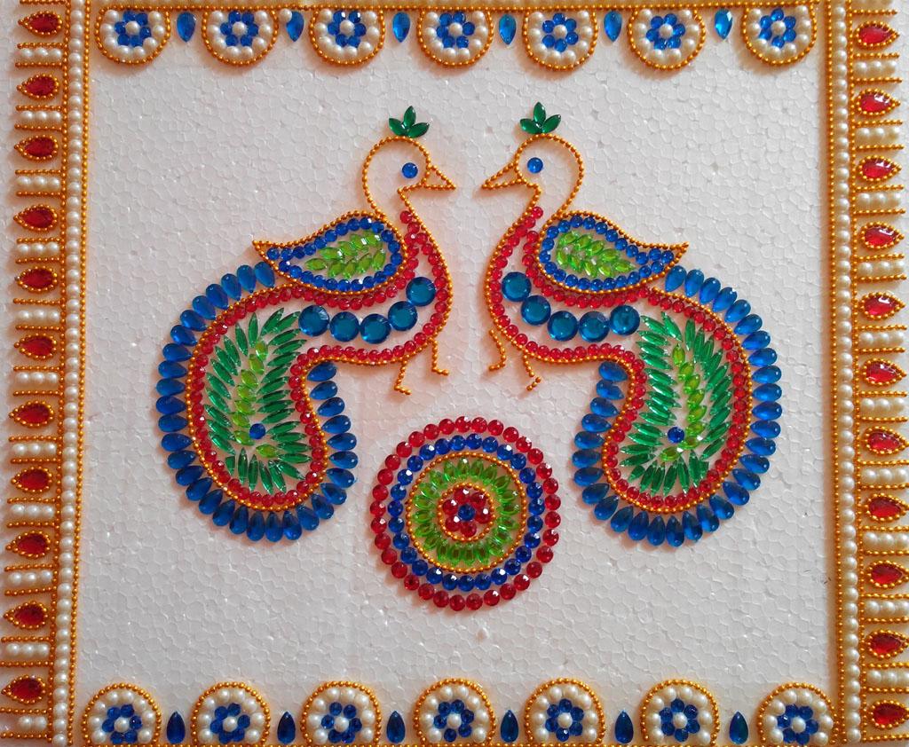 14 kundan rangoli design