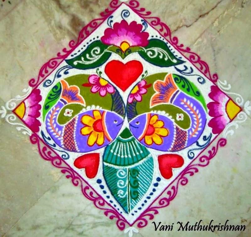 15 freehand rangoli design by vani muthukrishnan