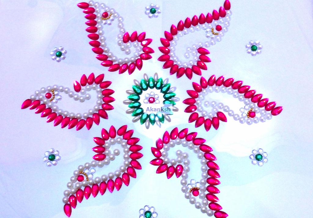 kundan rangoli design akanksh