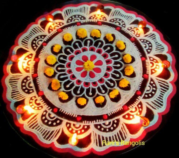 diwali rangoli design by rani -  16