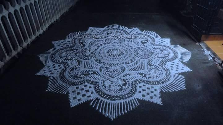 diwali rangoli design by lakshmi devi -  17