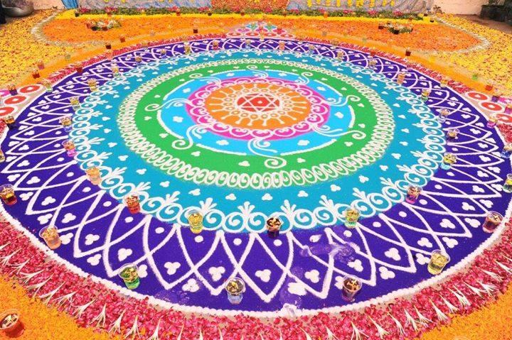 19 sanskar rangoli design by aakruti