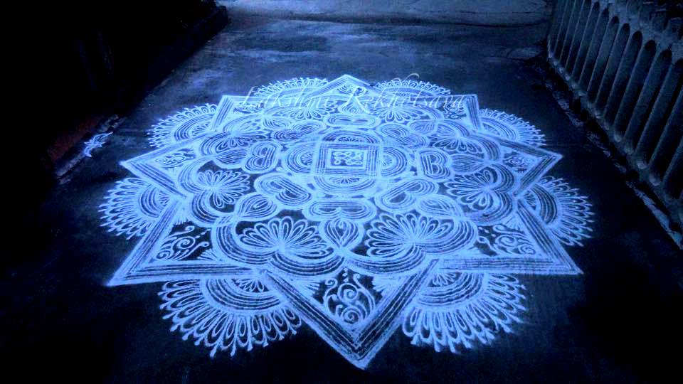 diwali rangoli design by aakruti -  2