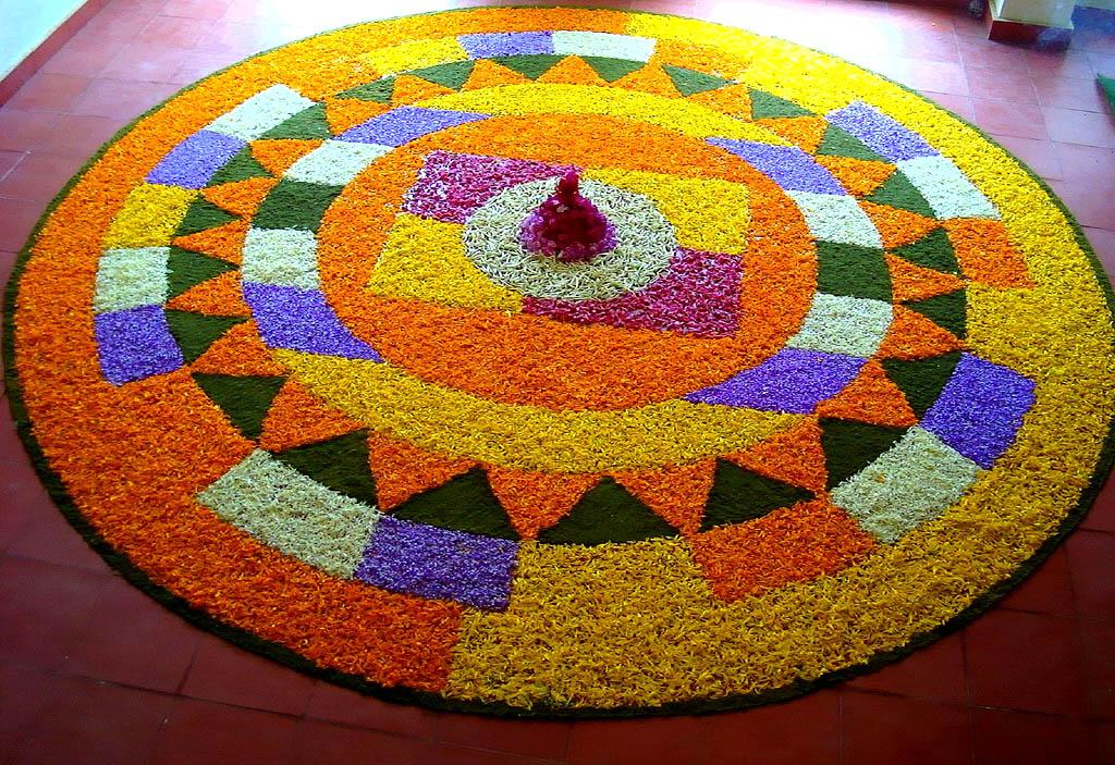 2 onam pookalam design by arun sinha