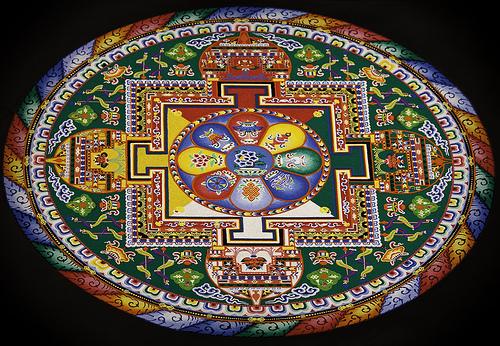 2 tibetan sand painting rangoli design
