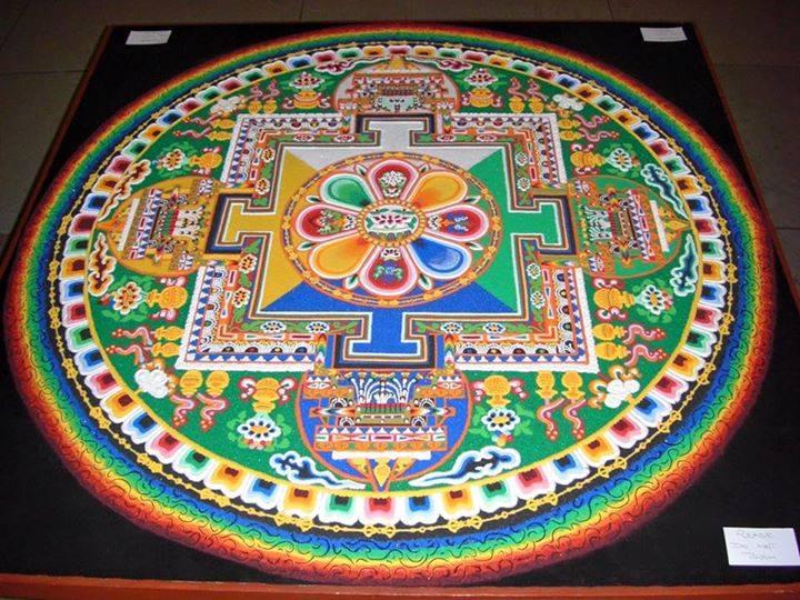 tibetan sand painting rangoli design -  20